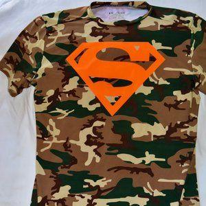 UA Camo Superman Young Men's XL Compression Shirt